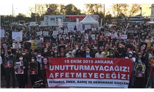 10 Ekim Katliamı'nda yaşamını yitirenler İstanbul'da anıldı: Unutturmayacağız, affetmeyeceğiz!