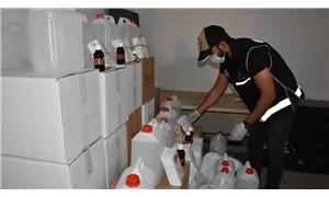 İzmir'de sahte alkol operasyonu: 5 ton etil alkol ele geçirildi