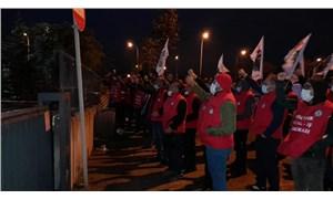 Birleşik Metal-İş'e üye oldukları için ücretsiz izne çıkarılan işçiler direnişe geçti