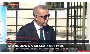 Erdoğan konuşurken TRT ekranında beliren yazıyla ilgili soruşturma başlatıldı