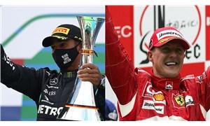 Hamilton, Formula 1'de Schumaher'i geride bıraktı