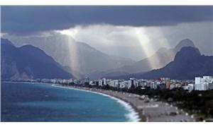 Antalya'da yağmur sonrası görsel şölen