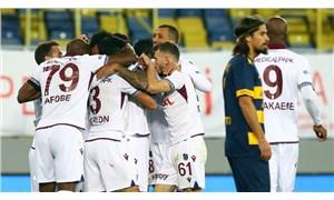 Trabzonspor deplasmandaki galibiyet hasretine son verdi