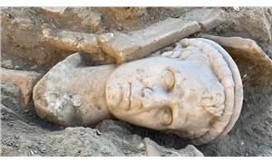 Denizli'de 2 bin yıllık rahip başı heykeli bulundu