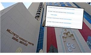 MHP, 'ırkçılığa hayır' tweetine gelen yanıtları gizledi
