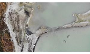 Kuraklık: Büyükçekmece Barajı'nda adacıklar oluştu