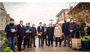 MHP'li belediye başkanı CHP'lilerle birlikte madene karşı bildiri dağıttı