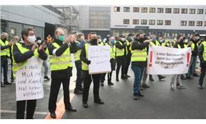 Frankfurt Havaalanı çalışanlarından protesto eylemi