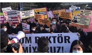 """Boğaziçi Üniversitesi'nde Melih Bulu protestosu: """"Kayyum istemiyoruz"""""""