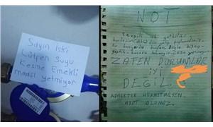 Yoksulluk her yere nüfuz etti: İSKİ görevlisine  suyu kesme notu