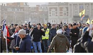Hollanda'da koronavirüs kısıtlamalarına protesto