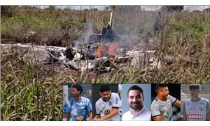 Brezilya'da kulüp başkanı ve 4 futbolcuyu taşıyan uçak düştü, kurtulan olmadı