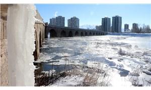 Türkiye'nin en soğuk yeri Altınyayla oldu: Kızılırmak Nehri kısmen buz tuttu