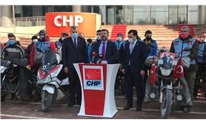 Motorlu kuryelerden CHP'ye ziyaret