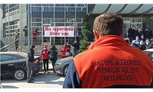 Maltepe Belediyesi işçileri greve çıktı