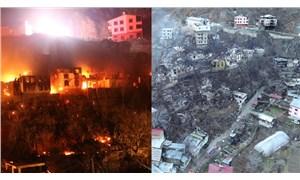 Artvin'deki yangın felaketinin boyutu sabah ortaya çıktı