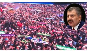 Bakan Koca, pandemi tedbirlerinin hiçe sayıldığı AKP kongresinde 'ilim' gördü