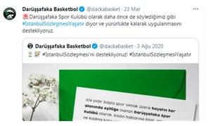 Darüşşafaka da İstanbul Sözleşmesi'ne destek paylaşımı yaptı