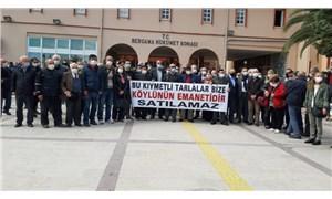 Köy arazisini satışa çıkaran AKP'li Bergama Belediyesi'ne tepki
