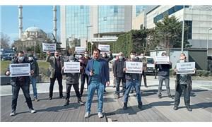 AKP'li belediye işçileri haklarını istiyor