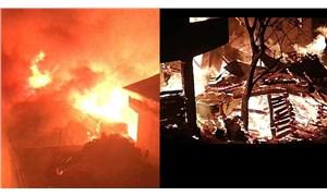 Artvin'de yangın: 7 ev kullanılamaz hale geldi