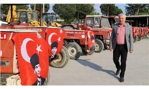 Üretim durmasın diye traktör desteği