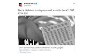 """Erdoğan 'medyada göreceksiniz' dedi, Hürriyet hedef gösterdi: """"Bildiriyi imzalayanların CHP'li yakınları…"""""""