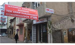 Uşak'ta İstanbul Sözleşmesi pankartı gerekçesiyle gözaltına alınan SOL Parti üyeleri serbest!