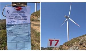 Bodrum'da kaçak rüzgar türbinleri mühürlendi