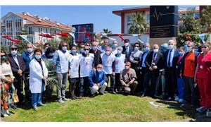 Fethiye'de sağlık çalışanları için saygı anıtı açıldı