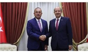 Çavuşoğlu Kuzey Kıbrıs'ta açıklamalarda bulunuyor