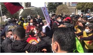 Bakırköy'de işçilerin basın açıklamasına polis müdahalesi: 30'dan fazla kişi gözaltına alındı