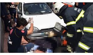 Hastaneden taburcu olan yurttaşa, ambulanstan inerken başka bir araç çarptı