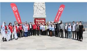 İzmir'de '1 Mayıs' Gündoğdu Meydanı'nda kutlandı