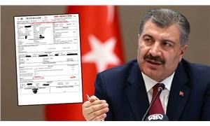 Sağlık Bakanı Koca'dan 'ölüm raporu' yanıtı