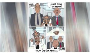 CHP'den AKP'ye karikatürlü yanıt: Şimdi çıkar şu maskeyi
