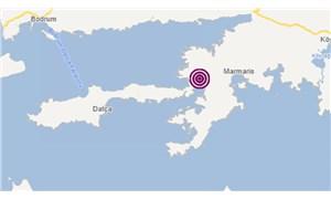 Marmaris'te 3,8 büyüklüğünde deprem
