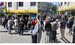 PTT önlerindeki kalabalıklar artıyor