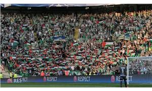 Celtic taraftarlarından tribündeki Filistin bayraklarını kaldıran yönetime tepki