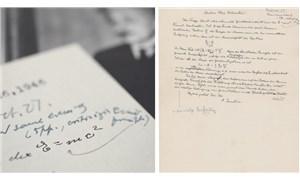 Einstein'in el yazısıyla yazdığı E=mc²'li mektup rekor fiyata satışa çıkıyor