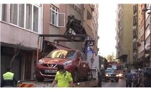 Şişli'de çökme tehlikesi olan 6 katlı binada oturanlar tahliye edildi