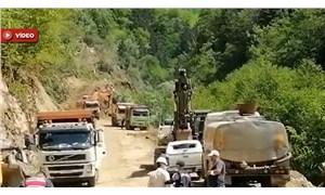 İkizdere'ye yapılan katliama doğa da sessiz kalmıyor: Talan, bölgeye heyelan getirdi!