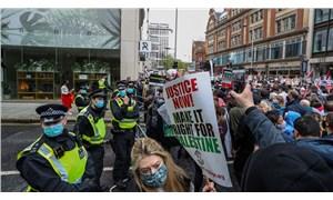 İsrail'in Filistin'e yönelik saldırıları İngiltere'de protesto edildi: 5 gözaltı
