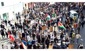 Nakba'nın 73. yıldönümünde İsrail saldırıları Berlin'de protesto edildi