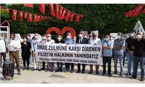 Adana Demokrasi Platformu, İsrail'in Filistin'e saldırılarını protesto etti