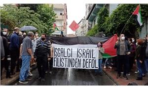 Okmeydanı'nda Filistin'e destek eylemi