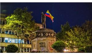 Kolombiya'da sömürgeci liderin yerine öldürülen eylemcinin anıtı dikildi
