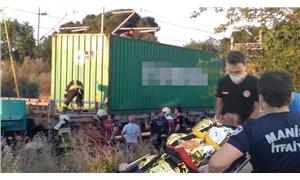 Manisa'da trenin üzerinde fotoğraf çektirmek isteyen çocuk akıma kapıldı