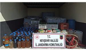 Nevşehir'de 8 bin litre sahte içki ele geçirildi