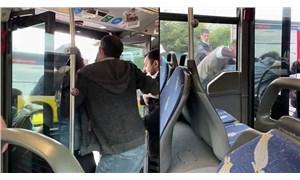 Metrobüste yolcular arasında kavga